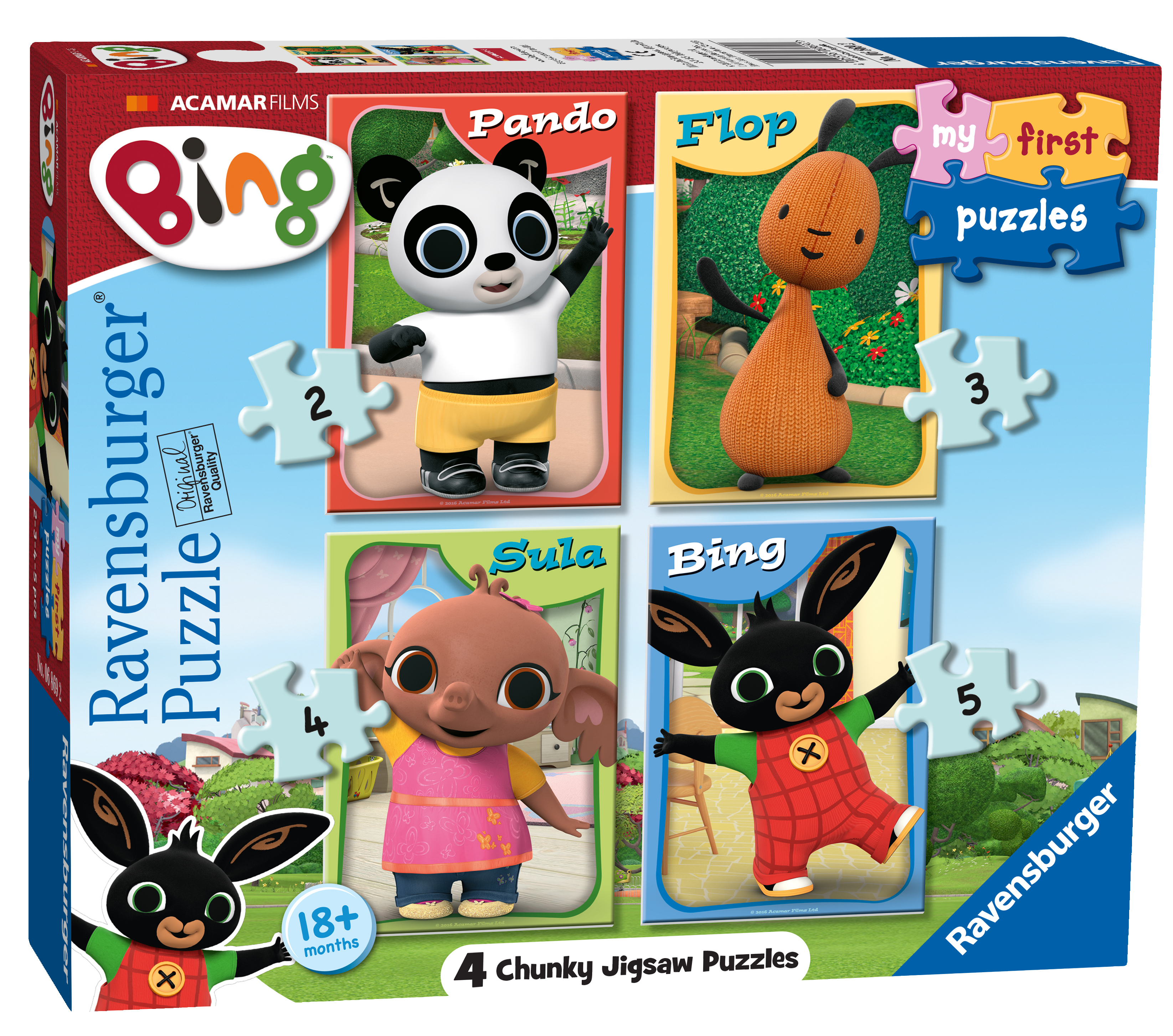 ravensburger bing bunny my first puzzle 4 in 1 jigsaw. Black Bedroom Furniture Sets. Home Design Ideas