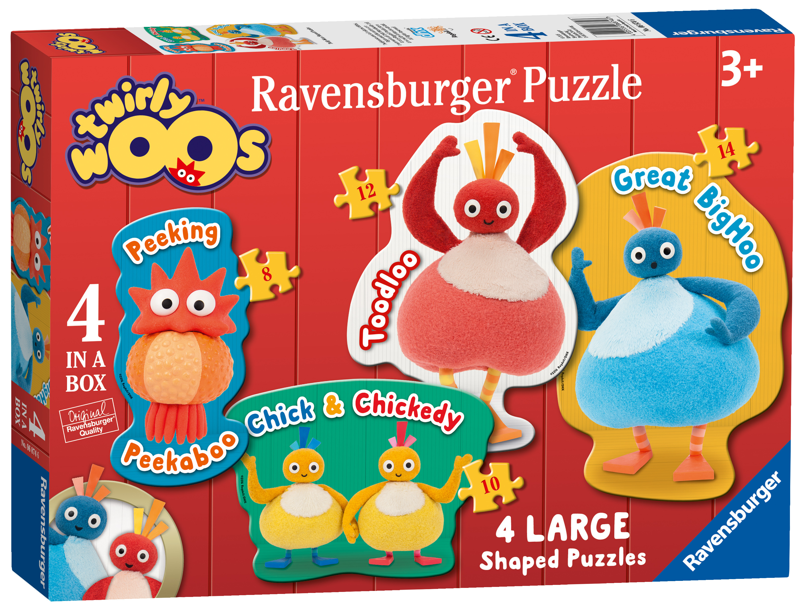 ravensburger twirlywoos 4 large shaped puzzles jigsaw. Black Bedroom Furniture Sets. Home Design Ideas