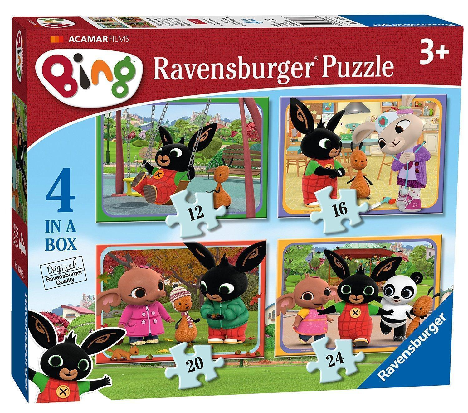 ravensburger bing bunny 4 in a box jigsaw puzzle ebay. Black Bedroom Furniture Sets. Home Design Ideas