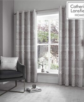 Silver jaquard Curtains