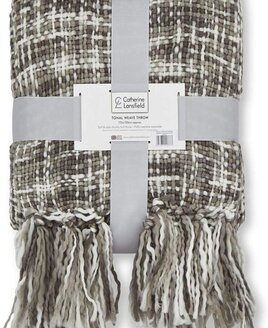 Grey and White Throw / Blanket