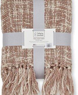 Blush Pink and Cream Throw/Blanket