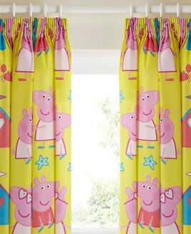 Peppa Pig, Nursery Curtains 54s - Seaside