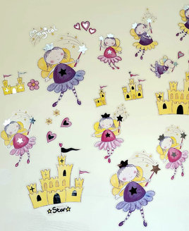 44 Fairy Inspired Quick Sticks - Cute Fairies, Yellow Palaces and Love Hearts.