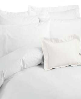 200 count, pure cotton white duvet cover. Pillowcase not included.