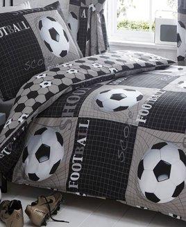Shoot, Black and White Football, Kids Duvet Covers