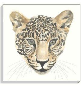 White Leopard Canvas Wall Art. White Background