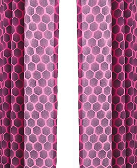 Pink Neon and Black Geometric Designed Curtains