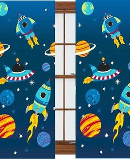 Space Rocket Curtains 72s