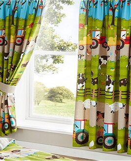 Farmyard Animal, Kids Curtains 54s
