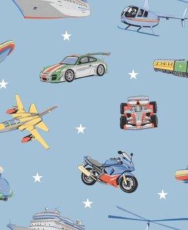 Zoom Away, Transport Wallpaper - Blue