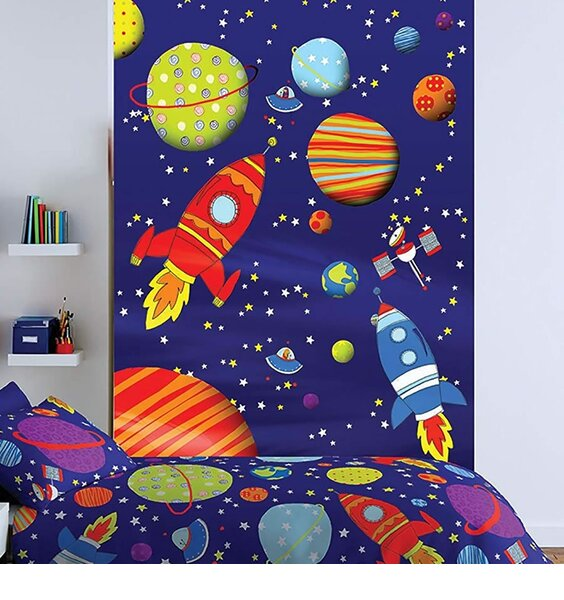 Catherine Lansfield Outer Space Wall Mural - 158 x 232 cm