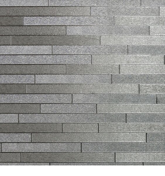 Foil Slate Wallpaper - Silver
