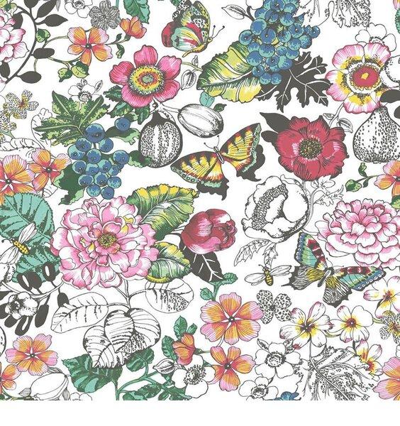 Floral Butterflies Wallpaper