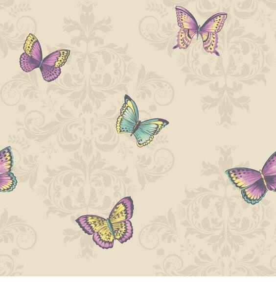 Damask Butterflies, Wallpaper - Holden Decor