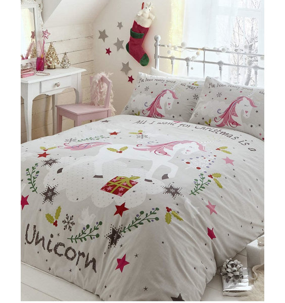 Wishing for Unicorns, Christmas Double Duvet