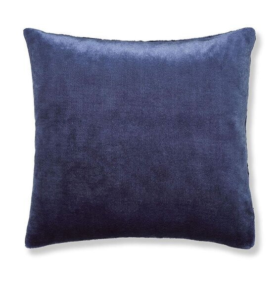 Catherine Lansfield Plain Raschel Navy Cushion Cover 55 x 55 cm