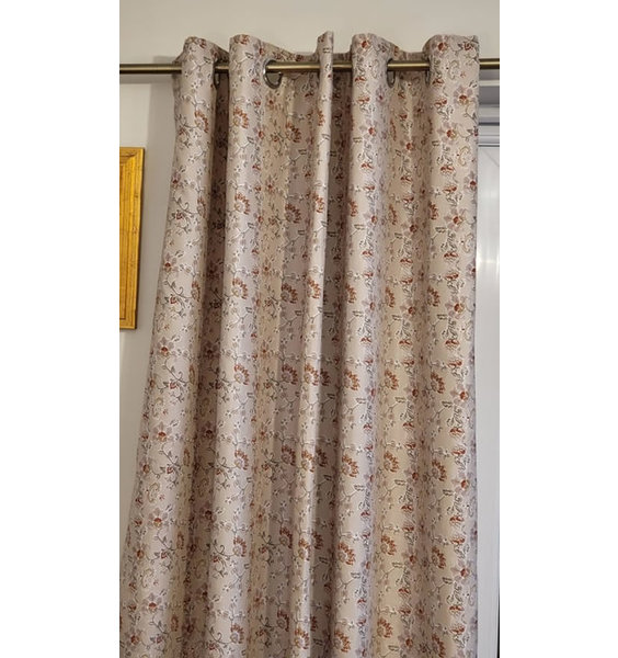 Catherine Lansfield Elephant Easy Care Eyelet Curtains 72s