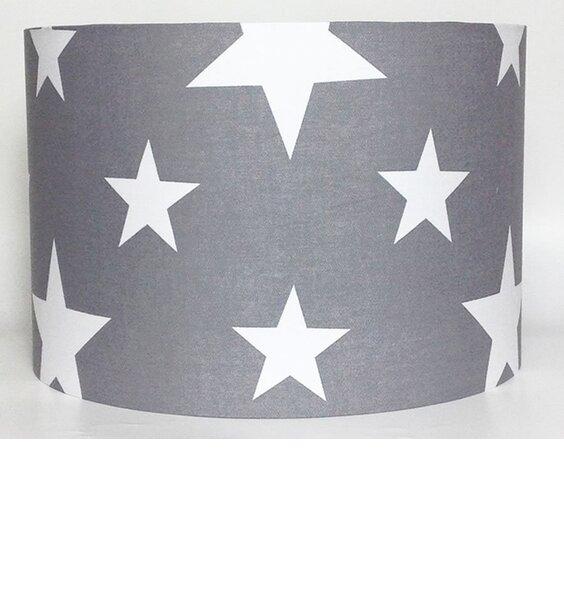 White Star, Grey Large Fabric Light Shade