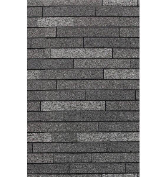 Foil Slate Effect Wallpaper - Charcoal