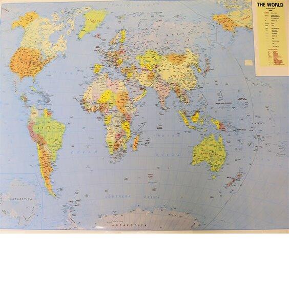 World Map 60cm X 42 Cm