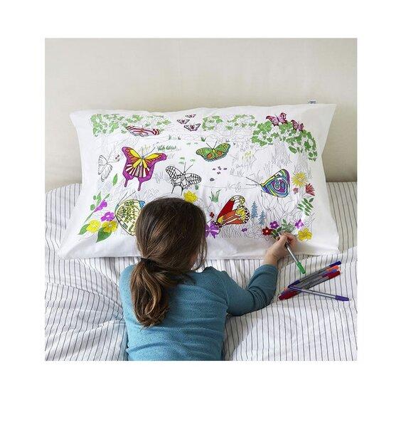 Doodle Butterfly Pillowcase - 100% Cotton