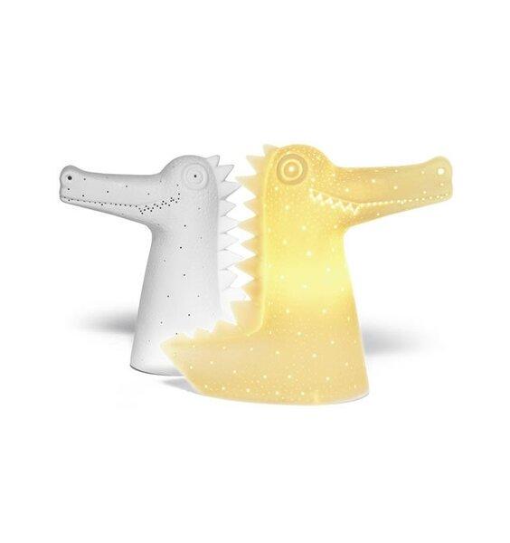Crocodile Shaped Night Light - 3D Ceramic