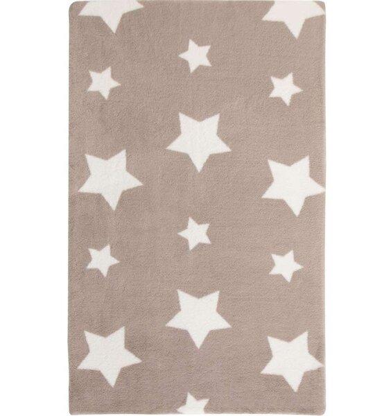 Caramel Cream Twinkle Star, Super Soft Rug 90 x 150 cm