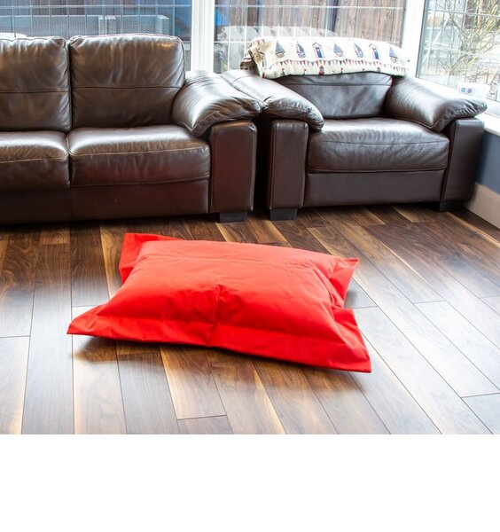 Red, Water Resistant Bean Bag Lounger - 95 x 75 cms