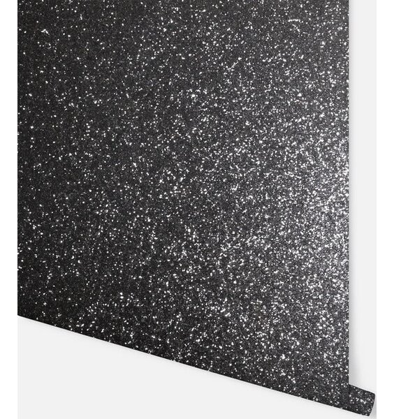 Sequin Sparkle Wallpaper - Black