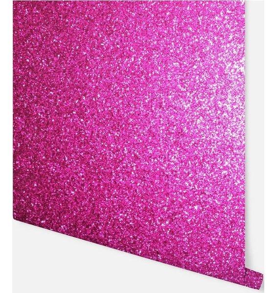 Sequin Sparkle Wallpaper - Hot Pink