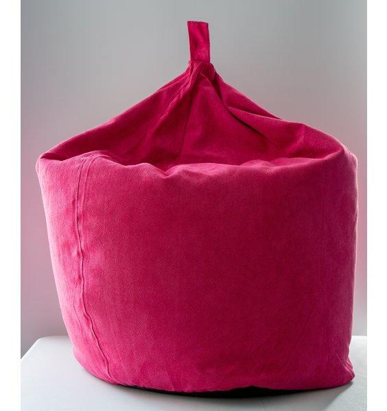 Faux Suede Herringbone, Large  Beanbag - Pink