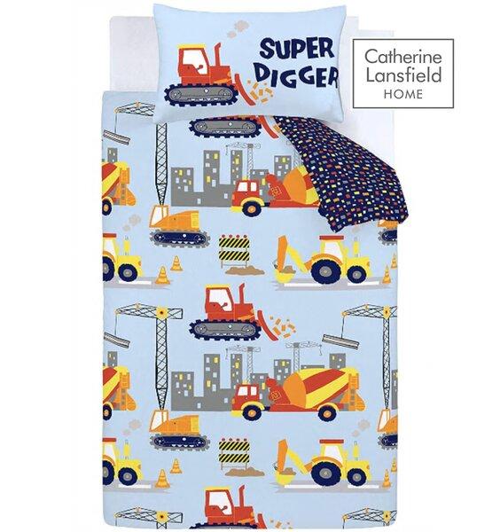 Catherine Lansfield Construction Easy Care Toddler Duvet Set