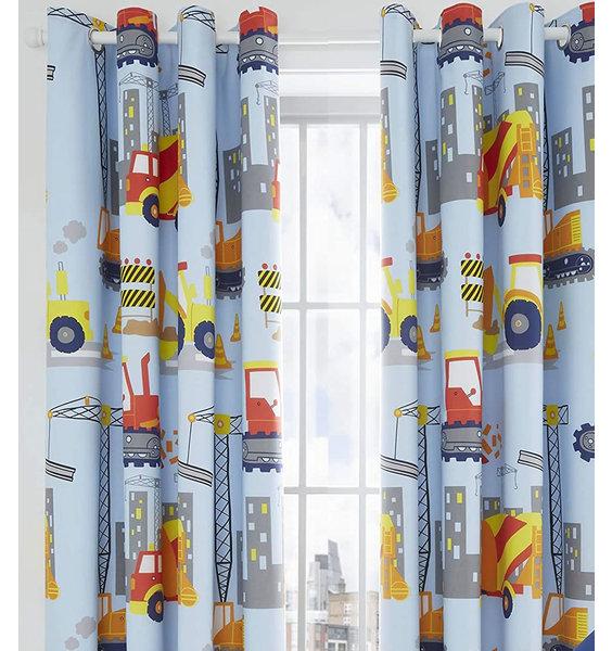 Catherine Lansfield Construction Blackout Curtains Set 72s