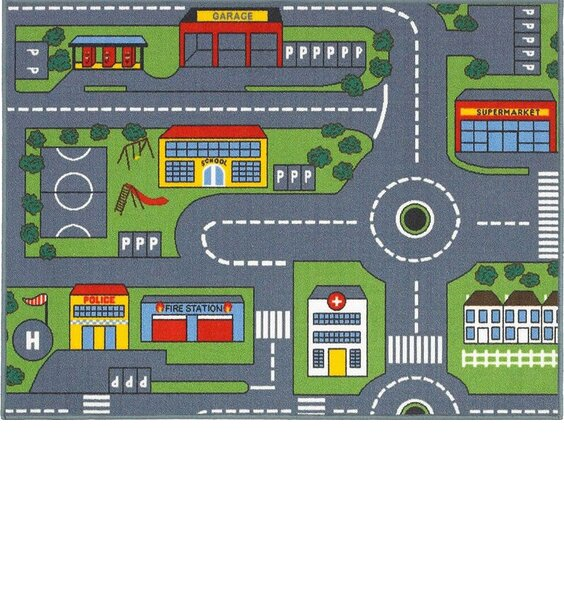 Road Map Play Mat 100 x 133 cm