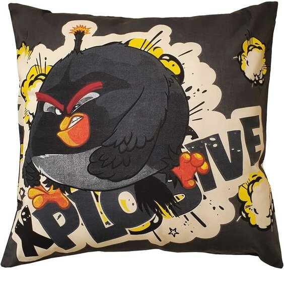Angry Birds TNT Filled Cushion - Black