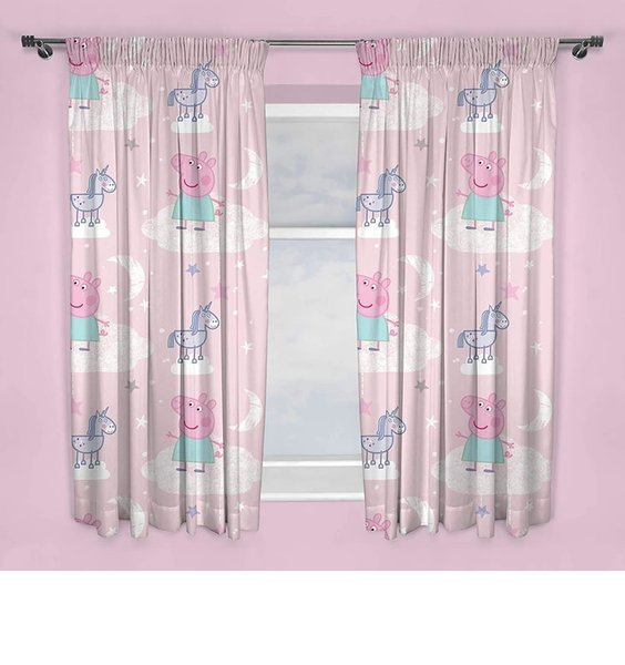 Candy Pink Peppa Pig Curtains