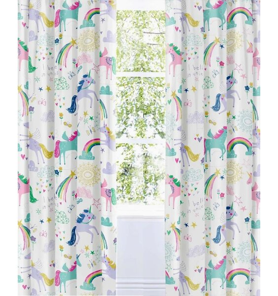 Rainbow Unicorn Curtains 72s
