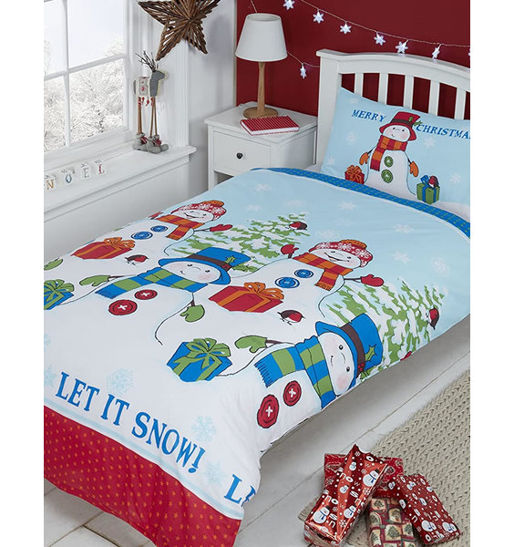 Let it Snow Christmas Double Bedding Set