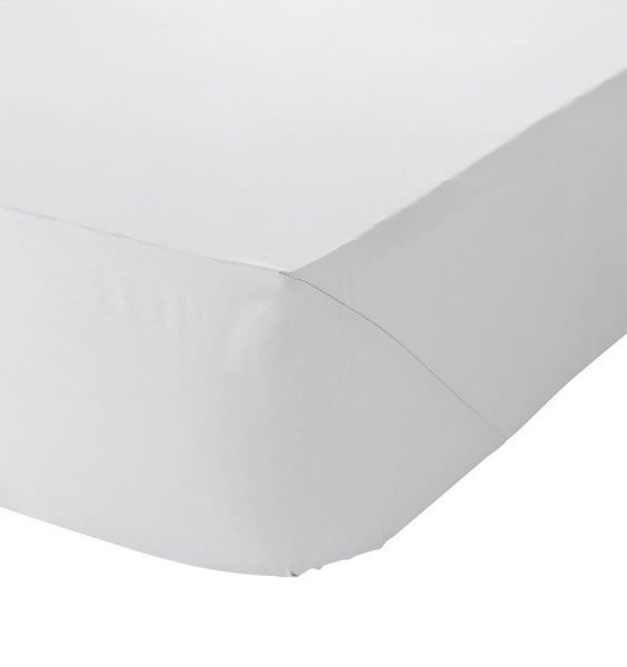Toddler Fitted Sheet - White