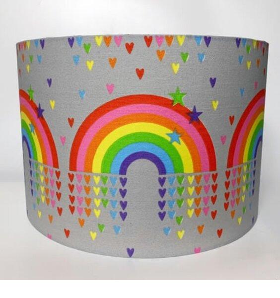 Rainbows and Hearts Large Fabric Light Shade