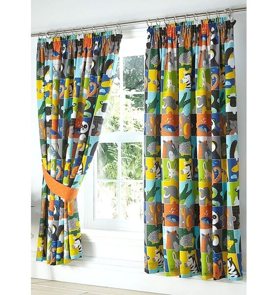 Animal Jungle Jigsaw Curtains 54s