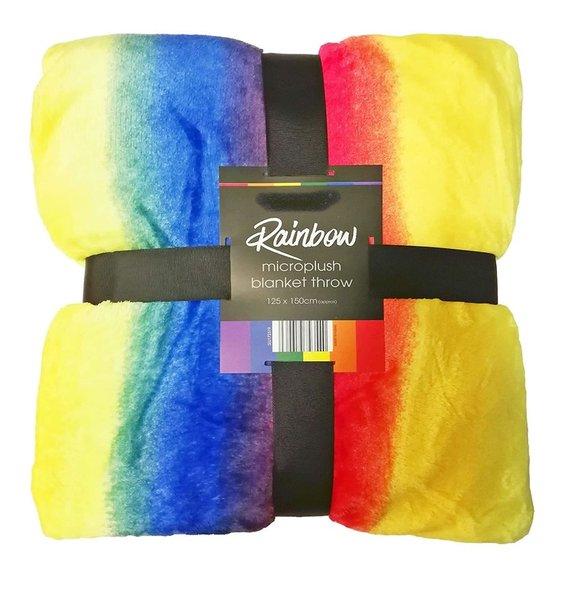 Super Soft Blanket Throw - Rainbow