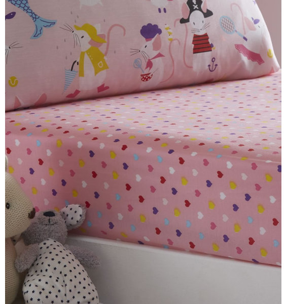 Love Hearts Fitted Sheet