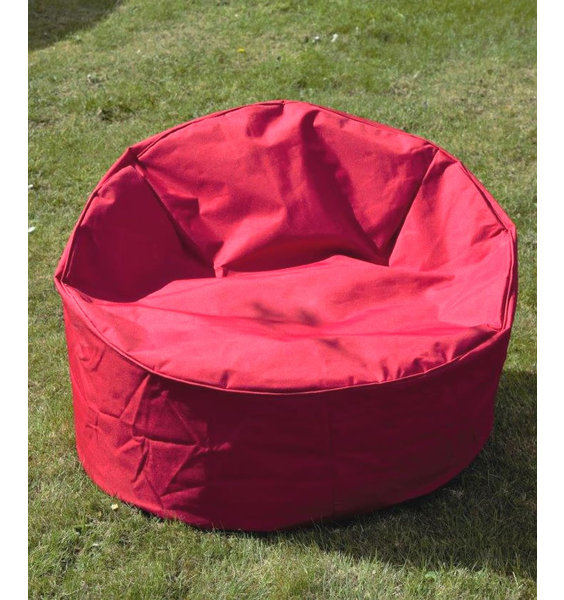 Large, Outdoor Chill Chair Bean Bag - Red