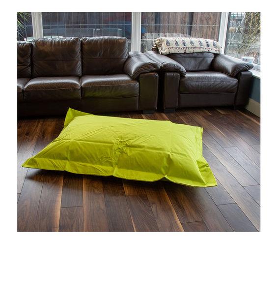 Green, Waterproof, Large Bean Bag Lounger - 140 x 100 cms