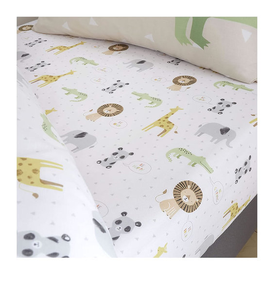 Catherine Lansfield Roarsome Animal Fitted Sheet