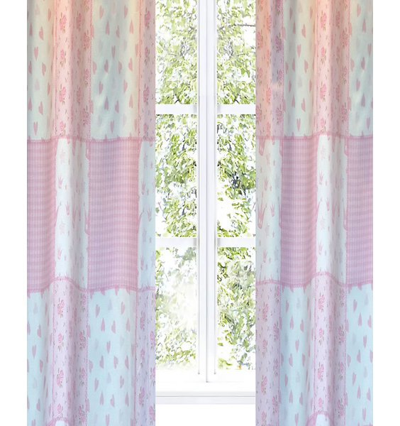 Pink Patchwork, Tab Top, Blackout Curtains 54s