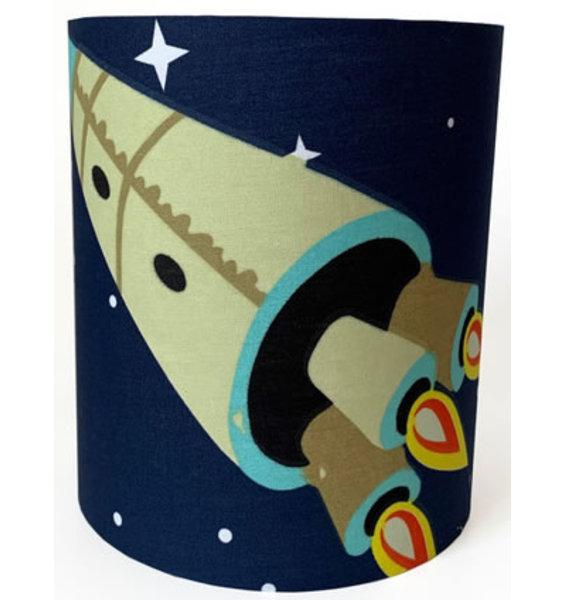 Navy Space, Medium Fabric Light Shade