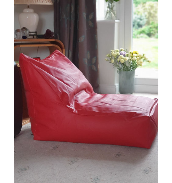 Large, Red, PVC, Faux Leather Gaming Chair Lounger